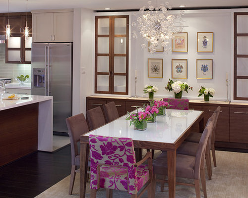 Inspiration For A Contemporary Dark Wood Floor Kitchen Dining Room Combo Remodel In San Francisco