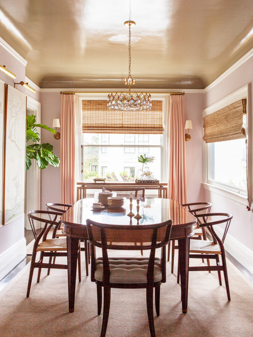 Pink Dining Room Home Design Ideas Remodel and