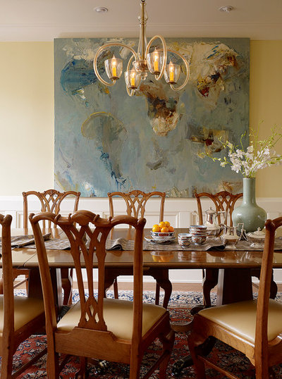 Traditional Dining Room by ScavulloDesign Interiors