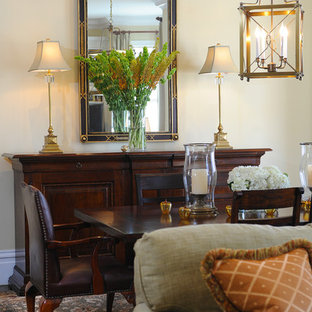 Inspiration for a timeless dining room remodel in San Francisco with beige walls
