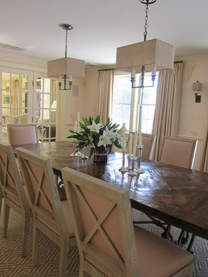Transitional Dining Room by Su Casa Designs