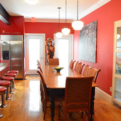 eclectic dining room by Amy Renea