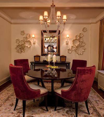 Eclectic Dining Room by B Fein Interiors LLC