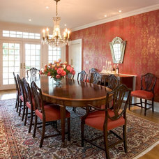 Traditional Dining Room by Dennison and Dampier Interior Design