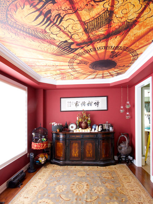 Asian dining room design ideas remodels photos with red for Asian dining room