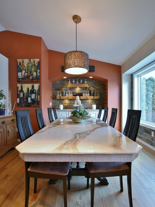 Grey dining room design ideas renovations photos with for Orange and grey dining room