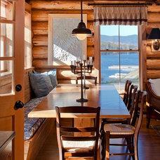Rustic Dining Room by Rangeley Building & Remodeling