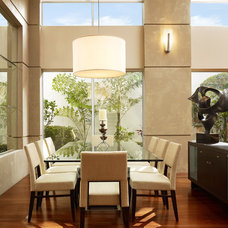 Contemporary Dining Room by Susan Lachance Interior Design