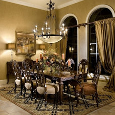 Mediterranean Dining Room by Rey Hernandez Interior Design