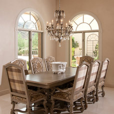 Traditional Dining Room by Feathers Fine Custom Furnishings
