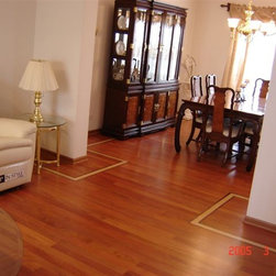 """Private Residence - Bull Valley, IL - 3/4"""" x 3"""" Solid Tiete Rosewood Flooring."""