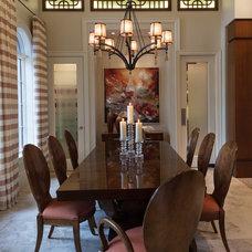 Mediterranean Dining Room by BCB Homes, Inc.