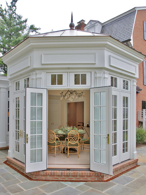 Doors Between Dining Room And Conservatory Exterior Home Design Ideas Pictures Remodel