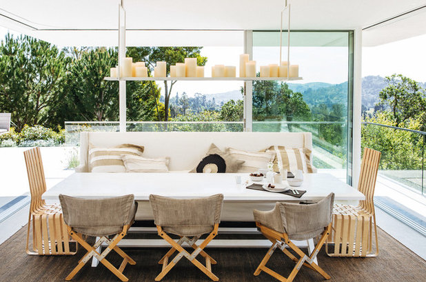 Epic Contemporary Dining Room by NICOLEHOLLIS