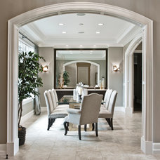 Transitional Dining Room by TOBE DesignGroup, LLC