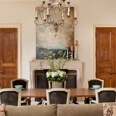 Mediterranean Dining Room by Andrea Bartholick Pace Interior Design