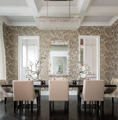 Mediterranean Dining Room by CDA Interior Design