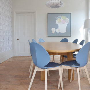 Dining room - transitional beige floor dining room idea in Cornwall