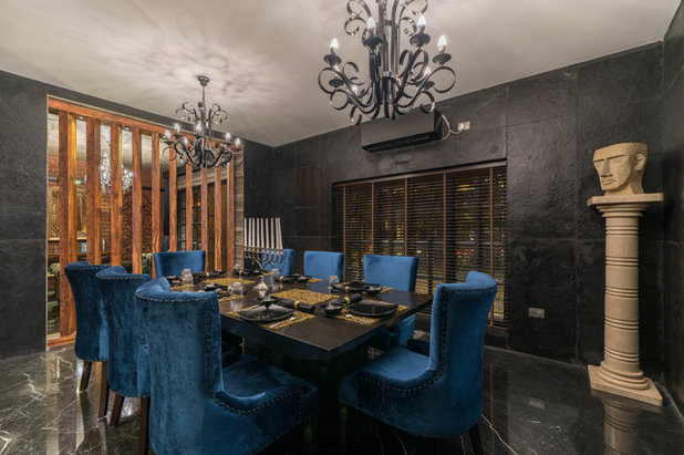 Eclectic Dining Room by Ricken Desai Photography