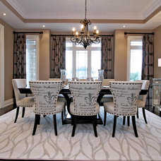Transitional Dining Room by RT Designs (Roula Thalassinos Designs Inc.)