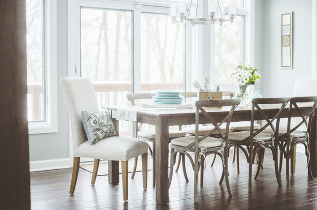 Beach Style Dining Room by deluxe design studio
