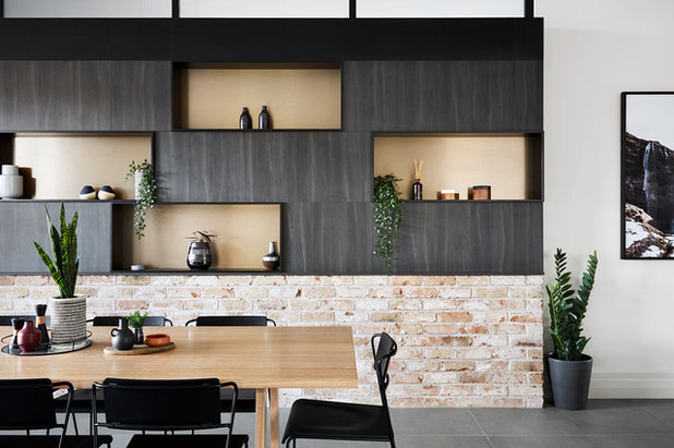 Contemporary Dining Room by Brickworks Building Products