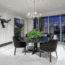 Contemporary Dining Room by Carl Mayfield Architectural Photographer