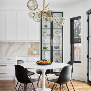 Свежая идея для дизайна: столовая в стиле современная классика - отличное фото интерьера