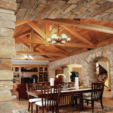 Traditional Dining Room by Buechel Stone Corp