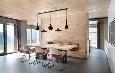 Casas Houzz: El cálido minimalismo de una vivienda rodeada de montañas