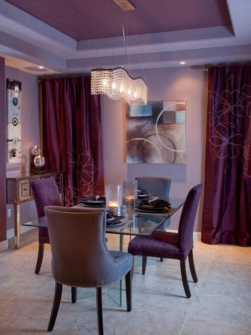 Purple Dining Room | Houzz