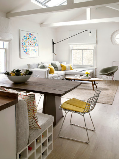 Contemporary Dining Room Putney, Loft Conversion