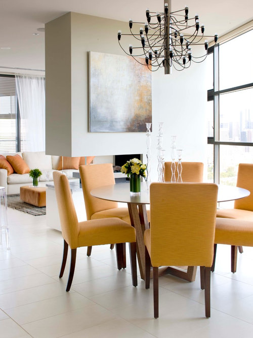 yellow upholstered dining chairs | houzz