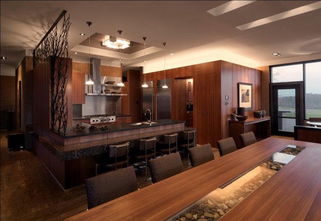 Rustic Dining Room by Birdseye Design