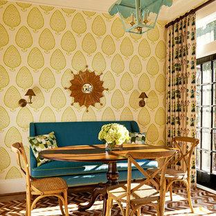 Foto på en vintage matplats, med flerfärgade väggar