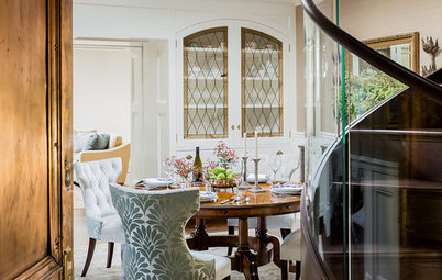 Room of the Day:  Architectural Dining Room With Elegant Curves