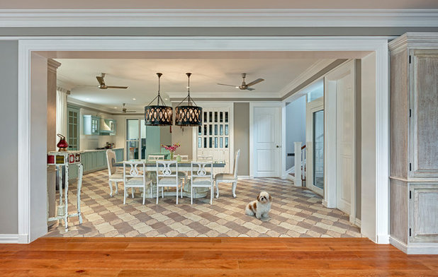 Transitional Dining Room by Shamanth Patil Photography
