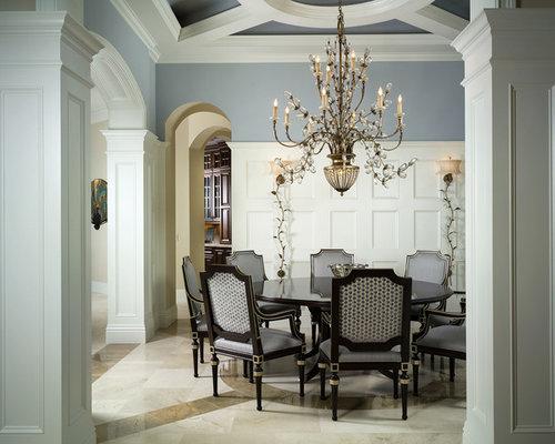 Salle manger exotique avec un sol en marbre photos et for Salle a manger jerry
