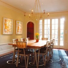 Eclectic Dining Room by Mark Brand Architecture
