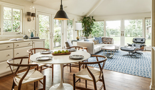 Transitional Dining Room by Interior Design Alchemy