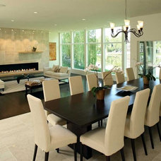 Modern Dining Room by Dwelling Designs