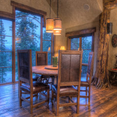 Rustic Dining Room by Allen-Guerra Architecture