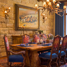 Rustic Dining Room by Linda McCalla Interiors