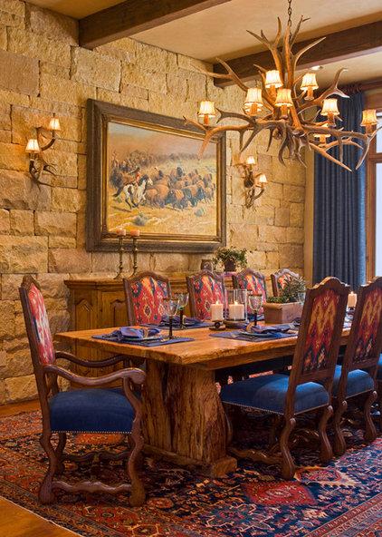 Rustic Dining Room by Linda McCalla Interiors