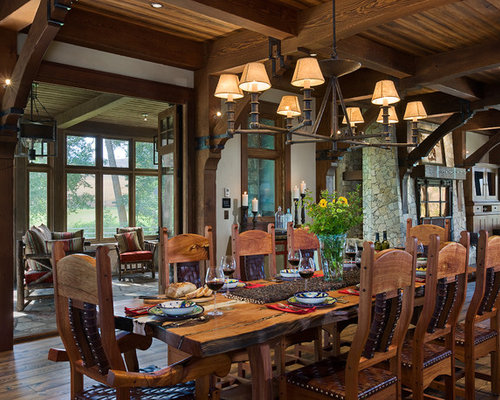 Rustic dining room design ideas renovations photos with for Multi use dining room ideas