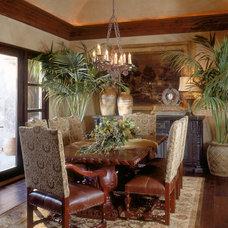 Mediterranean Dining Room by Cassidy Interiors