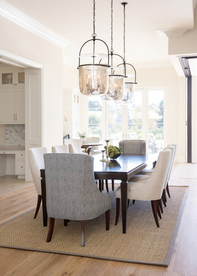 Transitional Dining Room by Anne Rae Design