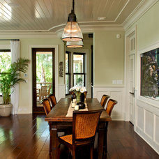 Tropical Dining Room by Christopher A Rose AIA, ASID