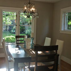 Transitional Dining Room by Open House Staging
