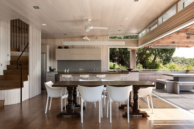 Contemporary Dining Room by Studio Pacific Architecture